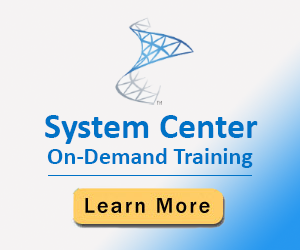 System Center On-Demand Training