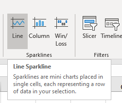 Step 3: Select Trendline from the Add Sparkline Elements window