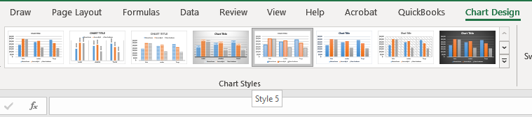Step 3: Click the Change Chart Style Button