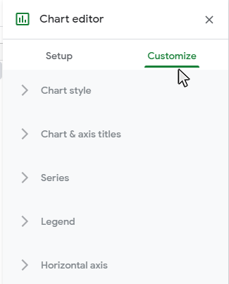 >Step 2: Select the Customize tab
