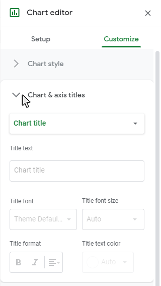 Step 3: Open the Chart Style sub-menu
