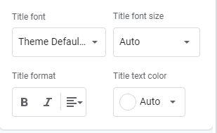 Step 5: How to Format the Chart Title